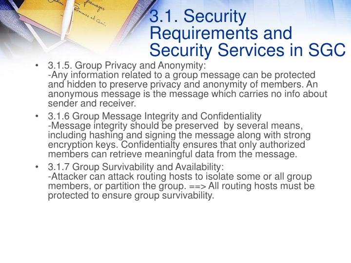 3.1.5. Group Privacy and Anonymity: