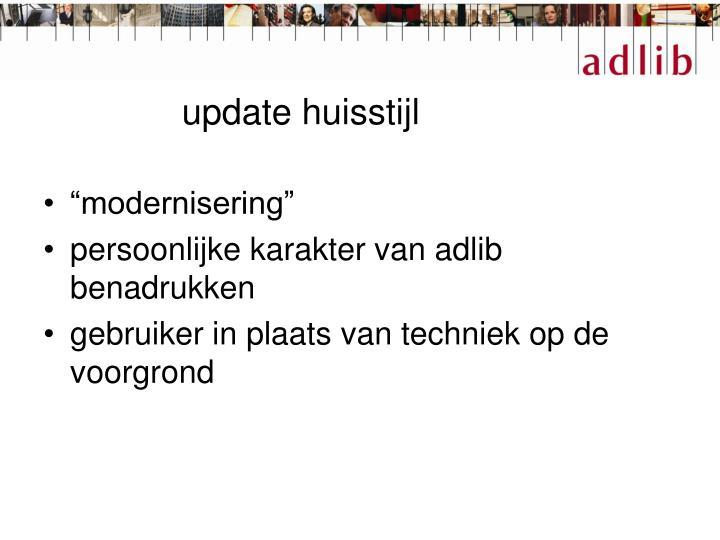 update huisstijl