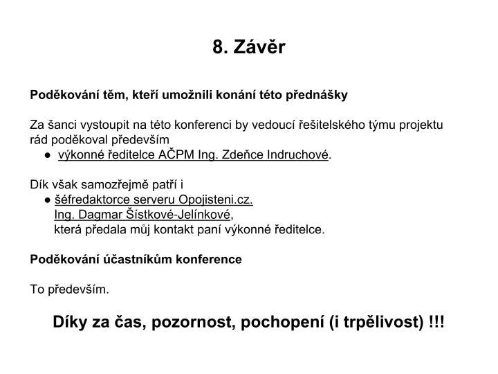 8. Závěr