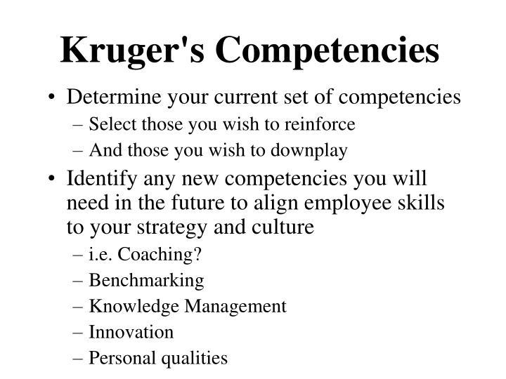 Kruger's Competencies
