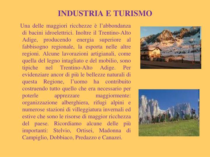 INDUSTRIA E TURISMO