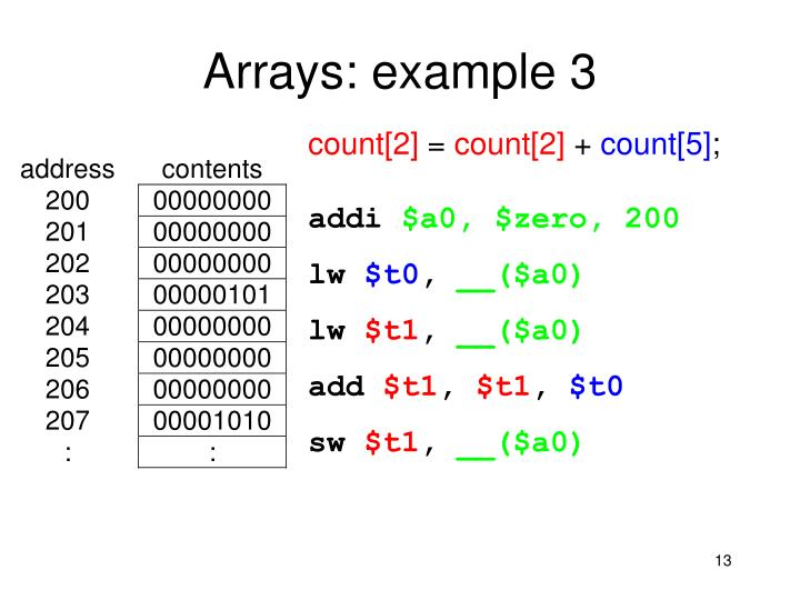 Arrays: example 3