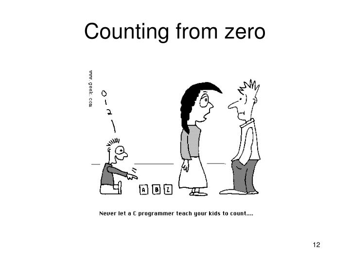 Counting from zero