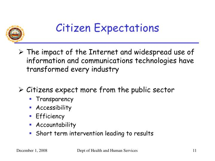 Citizen Expectations