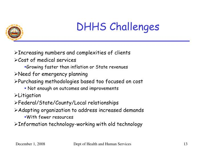 DHHS Challenges