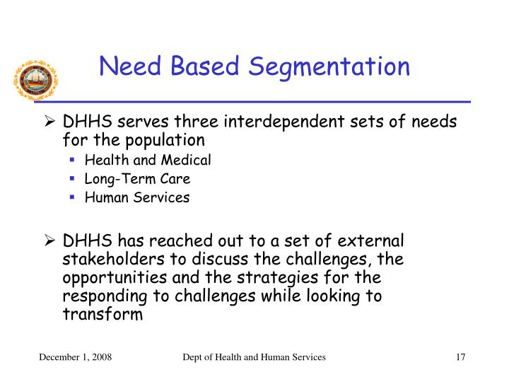 Need Based Segmentation