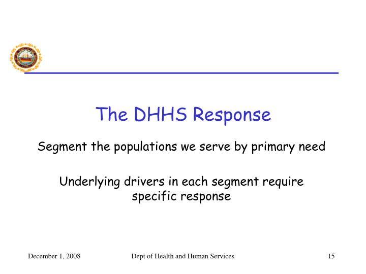 The DHHS Response