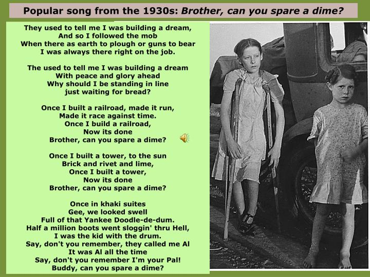 Popular song from the 1930s: