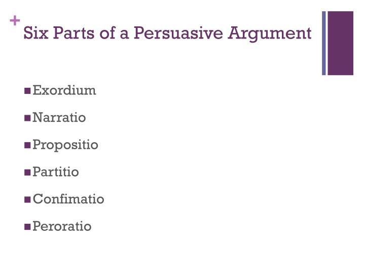 Six parts of a persuasive argument