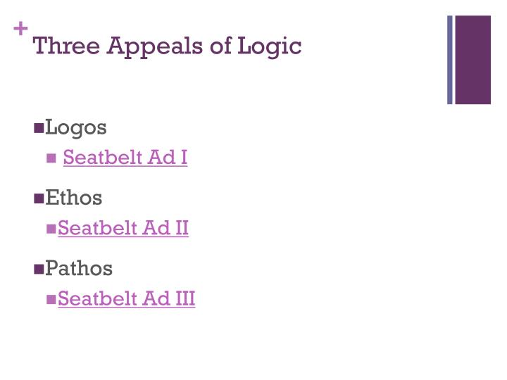 Three Appeals of Logic