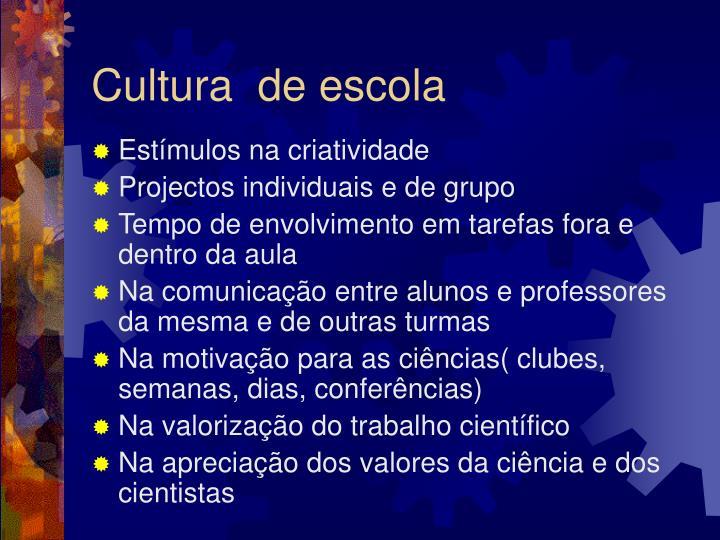 Cultura  de escola