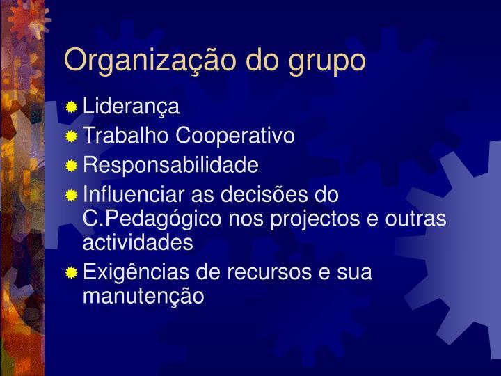 Organização do grupo