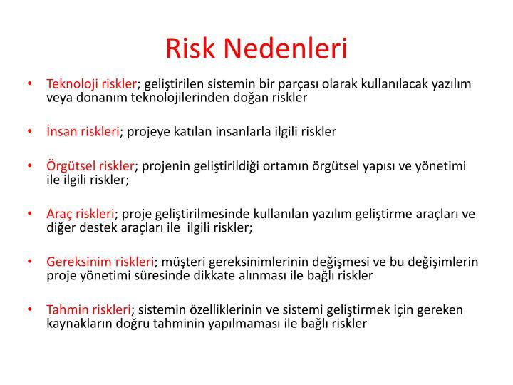 Risk Nedenleri