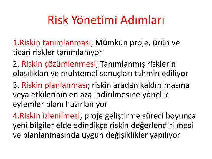 Risk Yönetimi Adımları