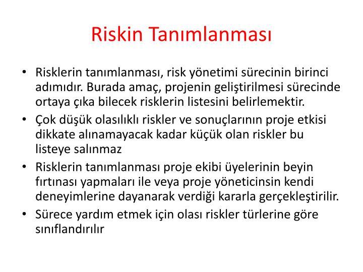 Riskin Tanımlanması