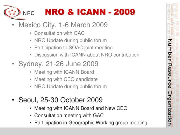 NRO & ICANN - 2009