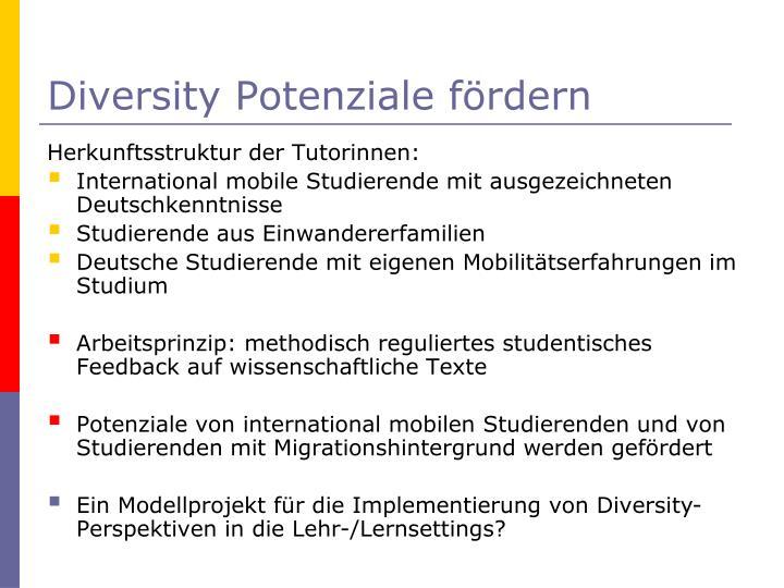 Diversity Potenziale fördern