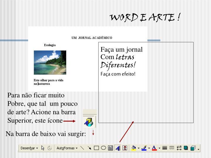 WORD E ARTE !