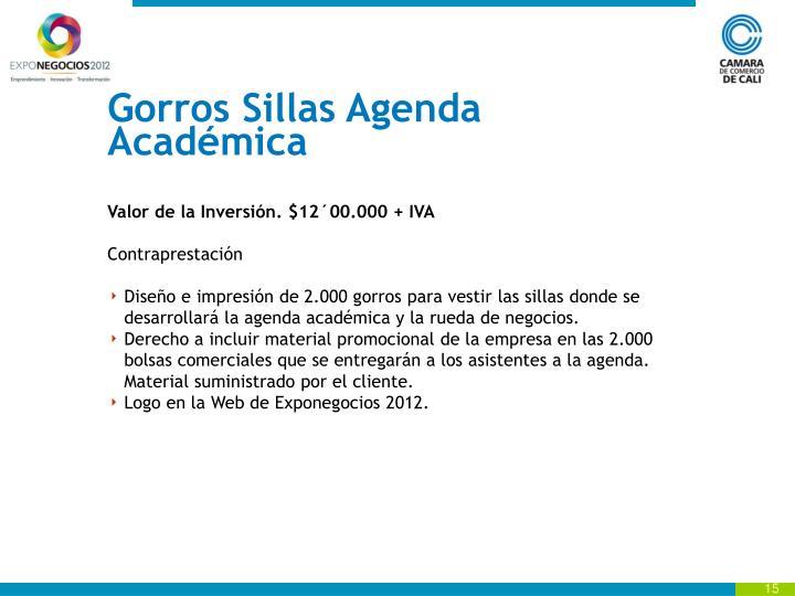 Gorros Sillas Agenda