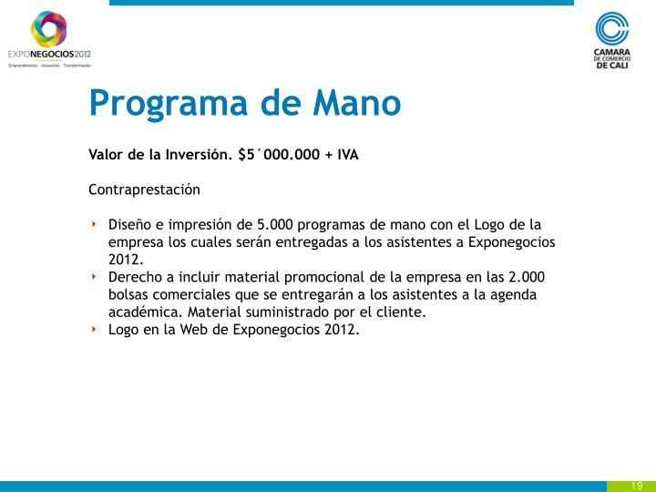 Programa de Mano