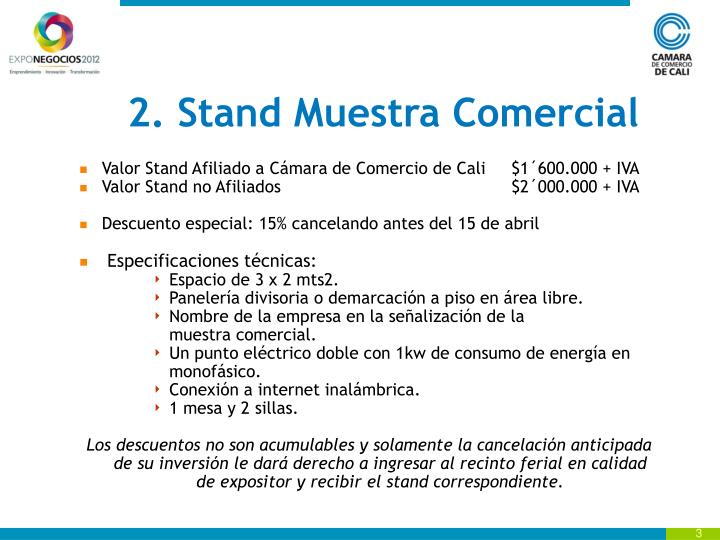 2. Stand Muestra Comercial