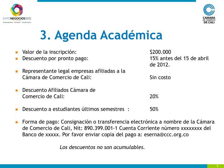 3. Agenda Académica