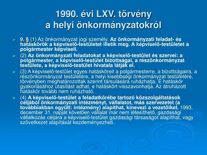 1990. évi LXV. törvény