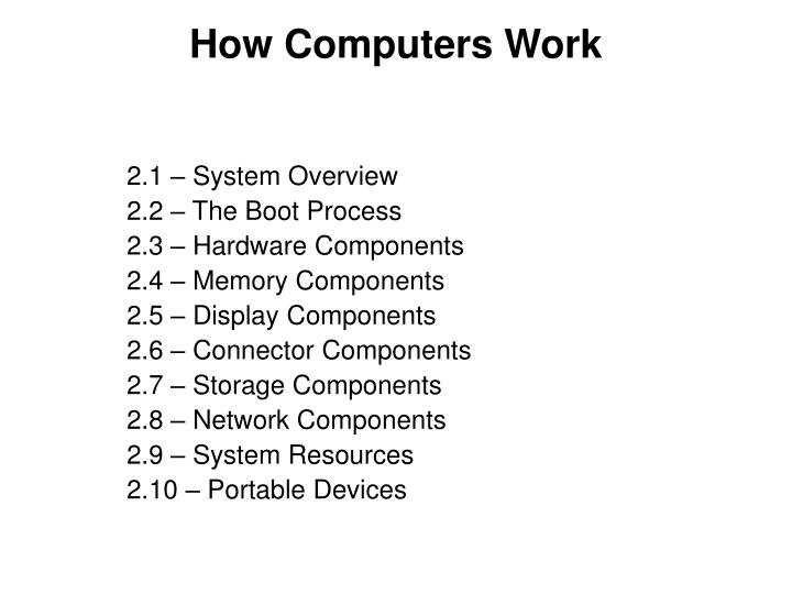 How computers work1