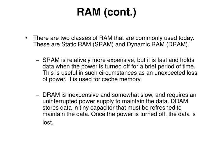 RAM (cont.)