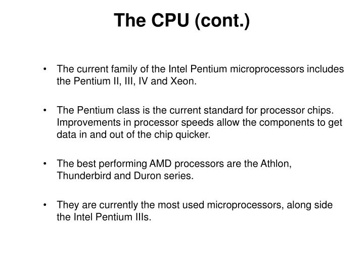 The CPU (cont.)