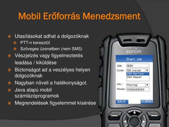 Mobil Erőforrás Menedzsment