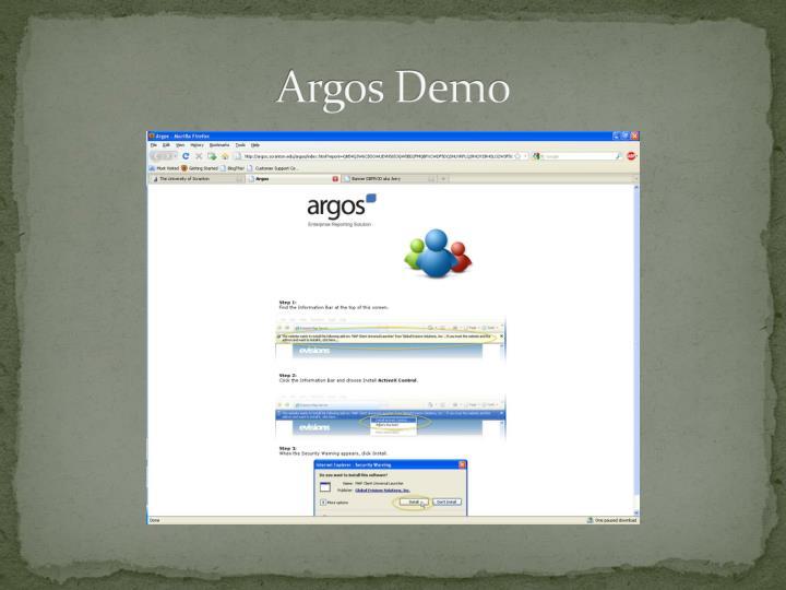 Argos Demo