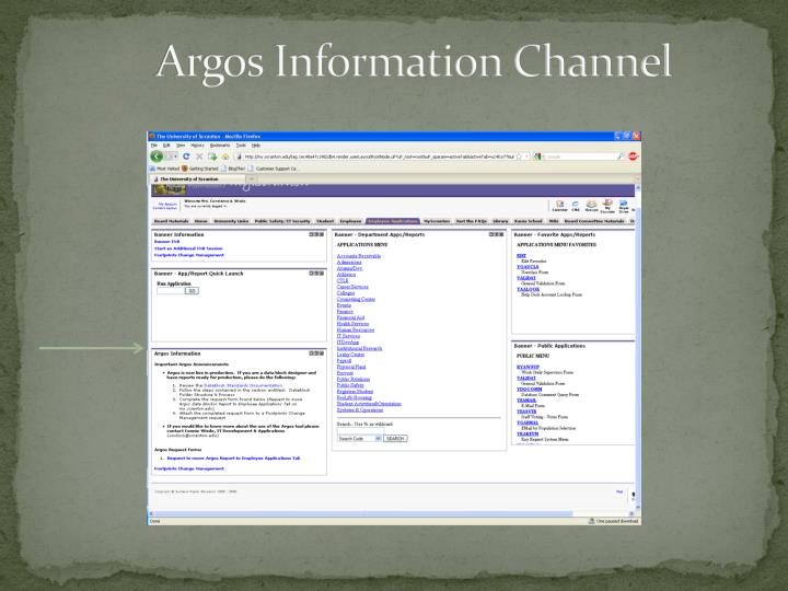 Argos Information Channel