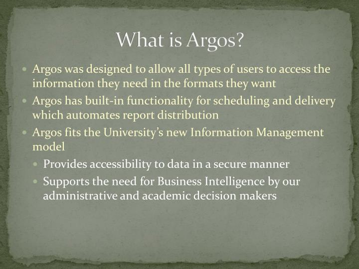 What is Argos?