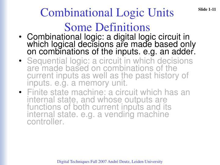 Combinational Logic Units