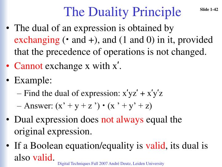 The Duality Principle