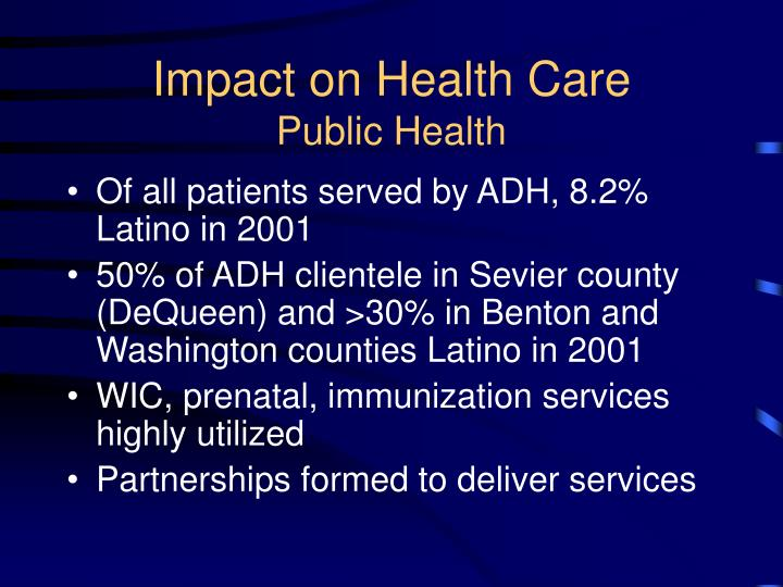 Impact on Health Care