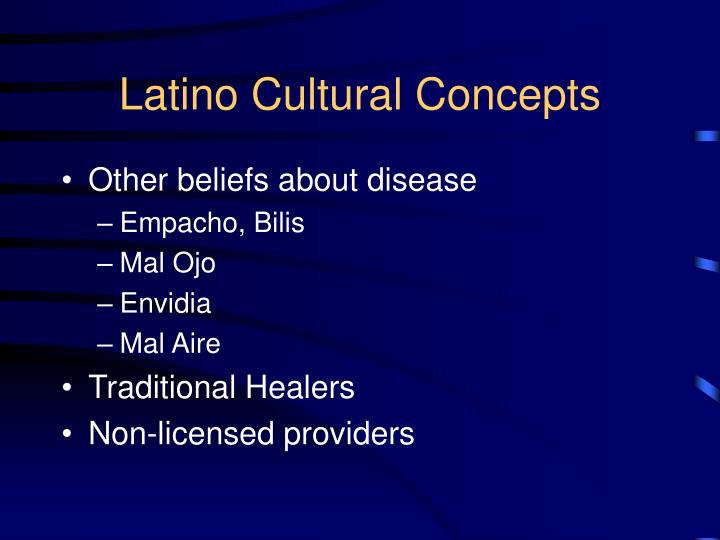 Latino Cultural Concepts