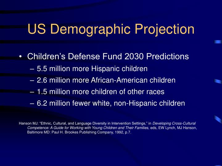 US Demographic Projection