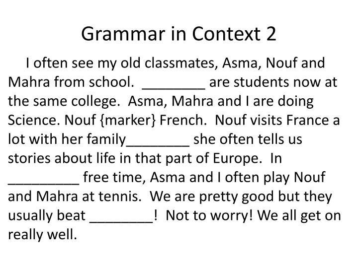 Grammar in Context 2