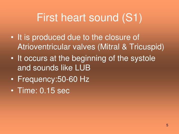 First heart sound (S1)