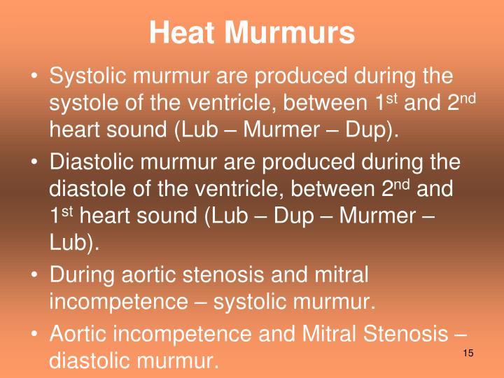 Heat Murmurs