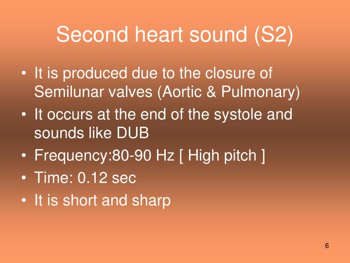 Second heart sound (S2)