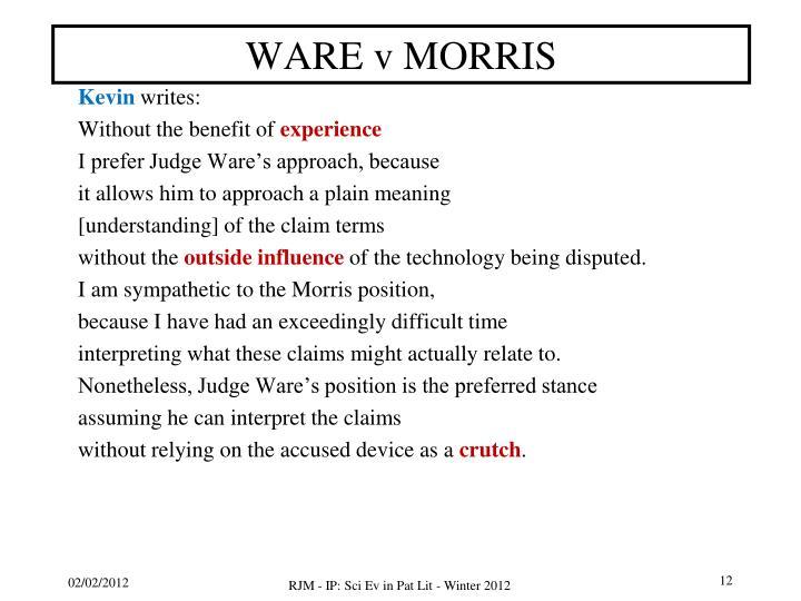 WARE v MORRIS