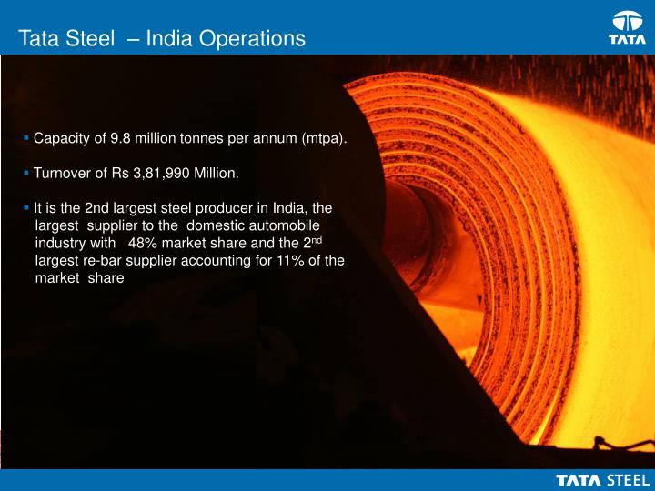 Tata Steel  – India Operations