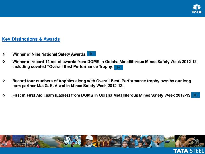 Key Distinctions & Awards