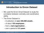 introduction to enron dataset
