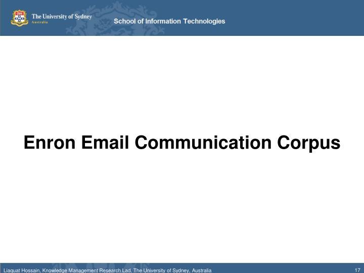 Enron Email Communication Corpus