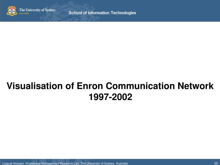Visualisation of Enron Communication Network