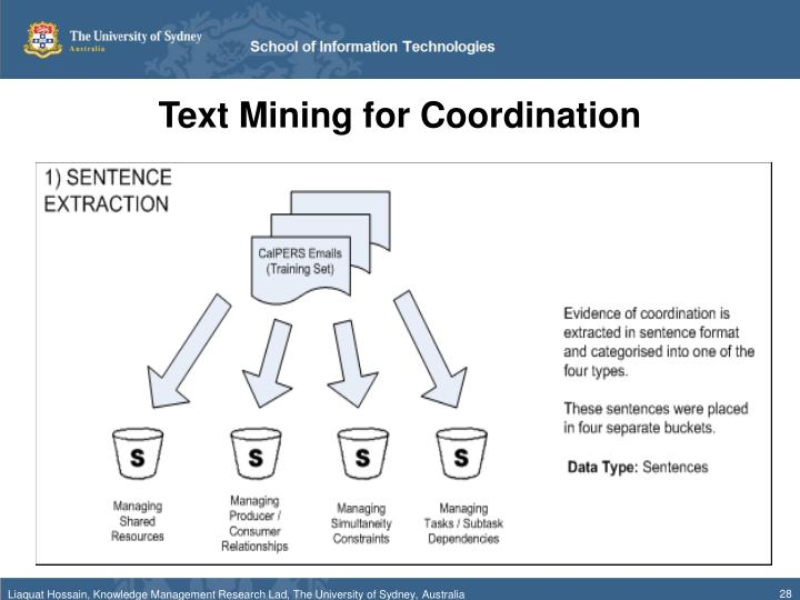 Text Mining for Coordination